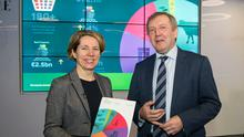 Bord Bia CEO, Tara McCarthy with Minister for Agriculture, Food and the Marine, Michael Creed at the launch of Bord Bia's Export Performance and Prospects 2018-2019.