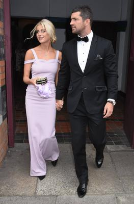 Jess Redden and Rob Kearney at a wedding in 2016