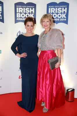 Sinead Desmond and Emma Hannigan at the Bord Gais Energy Irish Book Awards at the Double Tree by Hilton Hotel in Dublin. Picture:Arthur Carron