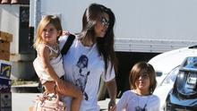 Kourtney Kardashian with children, Mason and Penelope Disick