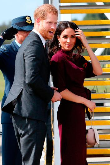 Prince Harry, Duke of Sussex and Meghan, Duchess of Sussex depart Sydney Airport on October 28, 2018 in Sydney, Australia