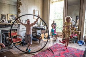 Ex-Roscommon footballer Ronan Brady performs with Panti Bliss. Photo credit: Allen Kiely and THISISPOPBABY