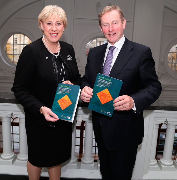 Arts Minister Heather Humphreys and Taoiseach Enda Kenny launch the 'The Centenary Conversations' conference