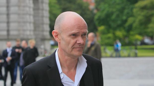 11/06/2015 Sean Moncrief during the Humanist Funeral Service for Paolo Tullio at The Exam Hall in Trinity College, Dublin. Photo: Gareth Chaney Collins
