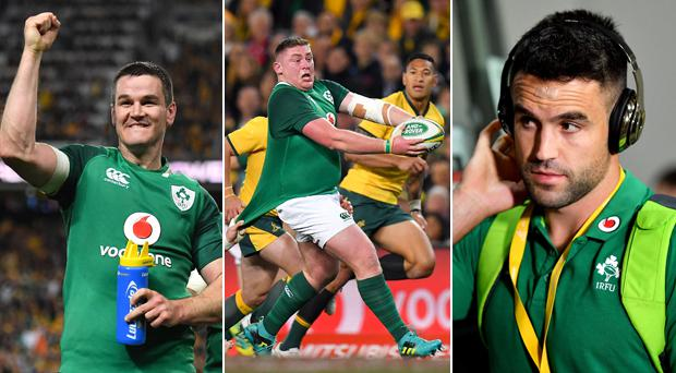 Johnny Sexton, Conor Murray and Tadhg Furlong top the charts