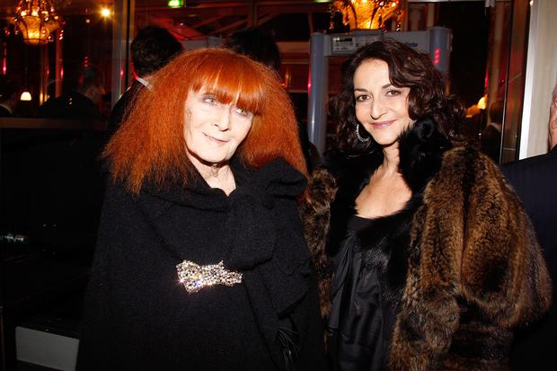 Designer Sonia Rykiel (pictured with daughter Nathalie Rykiel) died on August 25 at 86. (Photo by Michel Dufour/WireImage)