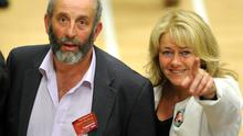 24-05-2014: Cllr Danny Healy Rae at the election count in Killarney Sports Centre on Saturday. Picture: Eamonn Keogh (MacMonagle, Killarney)
