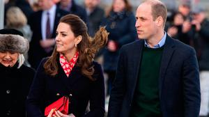 Prince William, Duke of Cambridge and Catherine, Duchess of Cambridge arrive at the RNLI lifeboat station on Mumbles Pier on February 4, 2020 in Swansea, Wales. (Photo by Polly Thomas/Getty Images)