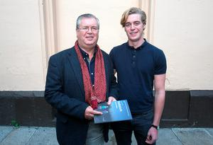 Joe Duffy & son Ronan Duffy arrive for the official opening of Ballyturk at the Olympia Theatre, Dublin. Photo:  Gareth Chaney Collins
