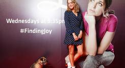 Amy Huberman with co-star Fern at the preview screening of Finding Joy at ODEON Point Village in Dublin. Picture: Conor McCabe Photography