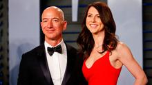 Amazon's Jeff Bezos and his wife MacKenzie at last year's 'Vanity Fair' Oscar Party. Photo: REUTERS