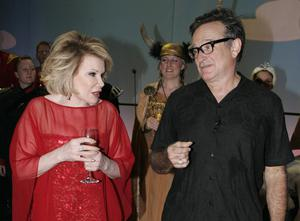 File photo dated 12/11/2008 of US actors and comedians Joan Rivers and Robin Williams backstage at the Wimbledon Theatre, London, after a charity performance in aid of the Prince's Trust charity, as the comedian has died in hospital in New York, her daughter Melissa said