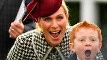 Zara Tindall with Archie McCoy, son of AP McCoy. Photo: Jacob King/PA Wire