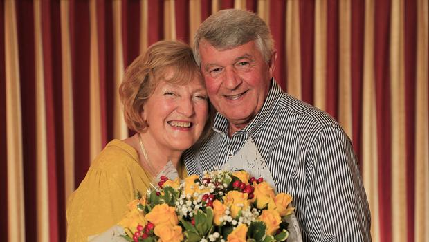 Anne and Bernard Stevenson who celebrate their 50th wedding anniversary on Valentine's day.  Picture; Gerry Mooney