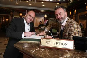 Kenny Jacobs, Ryanair's Chief Marketing Officer, and Nick Monaghan of Booking.com pictured in London.