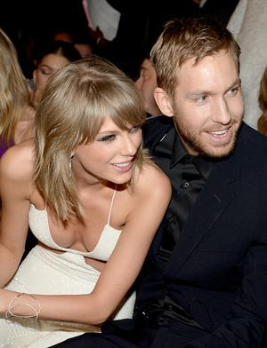 Recording artists Taylor Swift (L) and Calvin Harris attend the 2015 Billboard Music Awards at MGM Grand Garden Arena on May 17, 2015 in Las Vegas, Nevada.  (Photo by Kevin Mazur/BMA2015/WireImage)