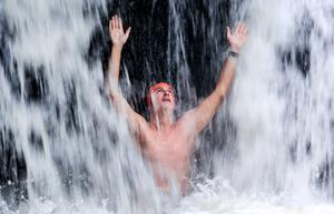 Sports Injury Therapist Gerard Hartmann pictured in The Clare Glens Waterfall. Picture; Gerry Mooney