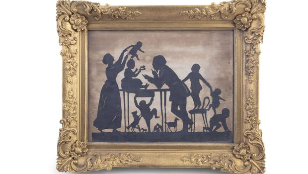 Cutting edge: A family scene attributed to Edouart