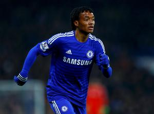 Juan Cuadrado of Chelsea runs during their English Premier League soccer match against Everton at Stamford Bridge, London, February 11, 2015.       REUTERS/Eddie Keogh (BRITAIN  - Tags: SPORT SOCCER) FOR EDITORIAL USE ONLY. NOT FOR SALE FOR MARKETING OR ADVERTISING CAMPAIGNS. EDITORIAL USE ONLY. NO USE WITH UNAUTHORIZED AUDIO, VIDEO, DATA, FIXTURE LISTS, CLUB/LEAGUE LOGOS OR 'LIVE' SERVICES. ONLINE IN-MATCH USE LIMITED TO 45 IMAGES, NO VIDEO EMULATION. NO USE IN BETTING, GAMES OR SINGLE CLUB/LEAGUE/PLAYER PUBLICATIONS.