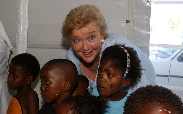 Marian visting an orphanage in South Africa