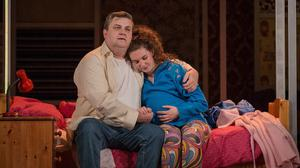 Simon Delaney and Hazel Clifford in The Snapper
