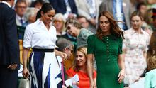 Britain's Catherine, Duchess of Cambridge, and Meghan, Duchess of Sussex, in the Royal Box ahead of the final between Serena Williams of the U.S. and Romania's Simona Halep  REUTERS/Hannah McKay