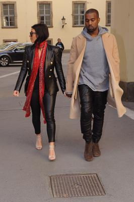 Kim Kardashian West and Kanye West are sighted on May 30, 2014 in Prague, Czech Republic. (Photo by Michaela Feuereislova/isifa/Getty Images)