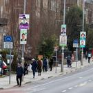 Choice?: Posters for rival candidates in the Rathmines area of Dublin yesterday. Photo: Damien Eagers/PA Wire