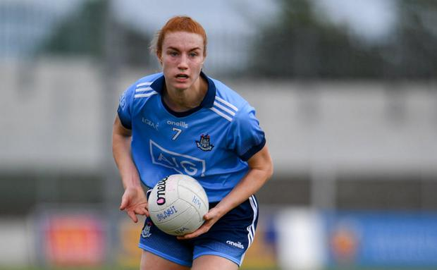 IN CHARGE: Dublin's Lauren Magee in action during the Leinster final against Westmeath. Photo: Sam Barnes/Sportsfile