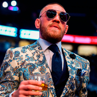 Conor McGregor makes his way to a press conference following the fight. Photo: Stephen McCarthy/Sportsfile