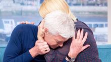 'Big day': Phillip Schofield comforted by Holly Willoughby on 'This Morning' yesterday