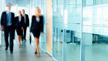 ''B for Business'. 'B for Boardroom'. And most importantly, 'B for Behaviour'.' Stock photo