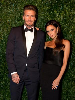 Angry: David Beckham with wife Victoria
