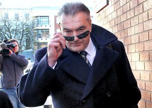 Ian Bailey arriving at court yesterday