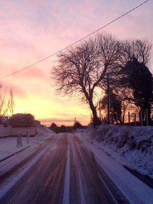 Curraghmore National School, Mullingar, on a snowy morning. Photo by Sighle Fitzgerald.