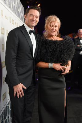BEVERLY HILLS, CA - JANUARY 07:  Actors Hugh Jackman and Deborra-lee Furness attend FOX, FX and Hulu 2018 Golden Globe Awards After Party at The Beverly Hilton Hotel on January 7, 2018 in Beverly Hills, California.  (Photo by Presley Ann/Getty Images)