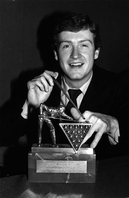 Snooker champion Steve Davis. Photo by Central Press/Getty Images