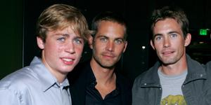 """Cody Walker, Paul Walker and Caleb Walker during MGM Pictures and Columbia Pictures """"Into the Blue"""" Premiere - After Party at Napa Valley Grill in Westwood, California."""