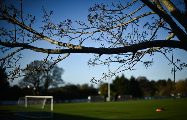 A general view prior to SSE Airtricity League First Division side Cabinteely's Stradbrook Park ground in Blackrock, Dublin. Photo by David Fitzgerald/Sportsfile