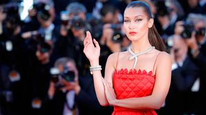 """Bella Hadid attends the """"Okja"""" screening during the 70th annual Cannes Film Festival at Palais des Festivals on May 19, 2017 in Cannes, France.  (Photo by Andreas Rentz/Getty Images)"""