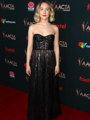 Saoirse Ronan attends the 9th AACTA International Awards at Mondrian Los Angeles on January 03, 2020 in West Hollywood, California. (Photo by Joe Scarnici/Getty Images for AACTA)