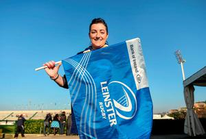 Leinster supporter supporter Ciara Coglan, from Rathoath, Co. Meath, at the Stadio Comunale Di Monigo before the Treviso game. Pat Murphy / SPORTSFILE