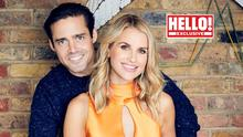 Expecting: Vogue Williams and Spencer Matthews as they appear in this week's edition of 'Hello!'. Photo: Trevor Leighton/Hello!/PA Wire