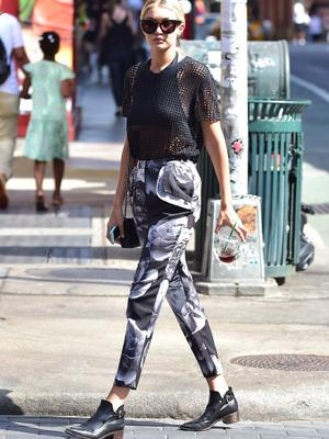 When she wore this for a stroll around Soho.