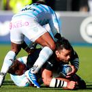 Saracens' Billy Vunipola during the Heineken Champions Cup against Racing 92