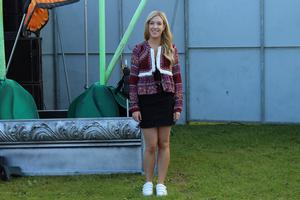 Day Two - Amy Mulvaney in a look from Penneys at Longitude. Photographer: Jennifer Duffy