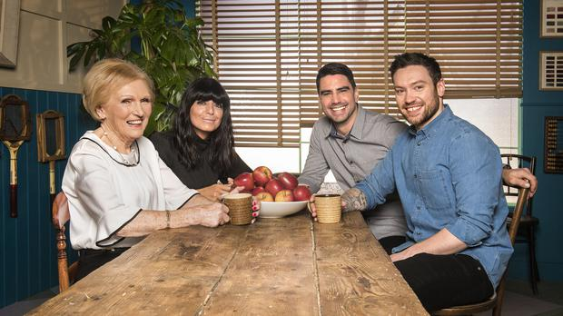 Mary Berry is joined by Claudia Winkleman, Chris Bavin and Dan Doherty