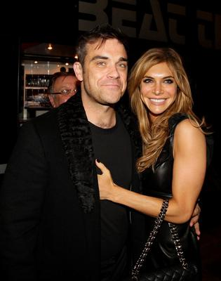 Robbie Williams with his wife Ayda Field Dave Thompson/PA Wire...A