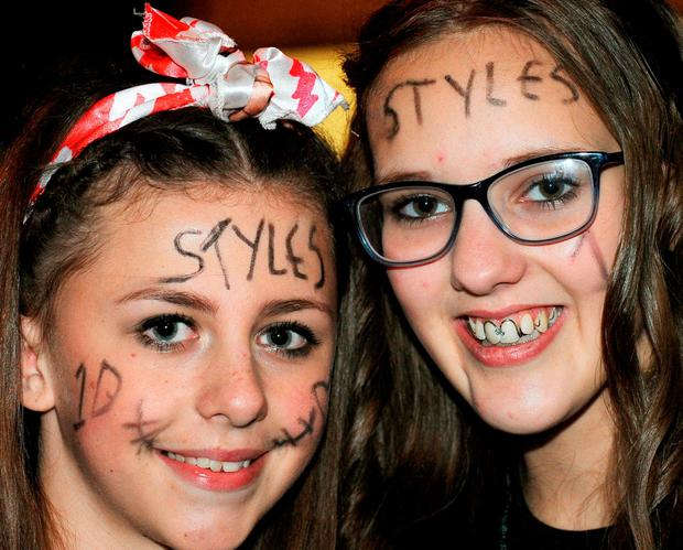One Direction fans outside the Sheffield Arena, Sheffield, ahead of the conclusion of the band's On The Road Again Tour in Sheffield