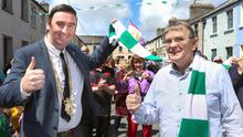 NO PLACE LIKE HOME: Galway Mayor Mike Cubbard welcomes home Paddy Grant